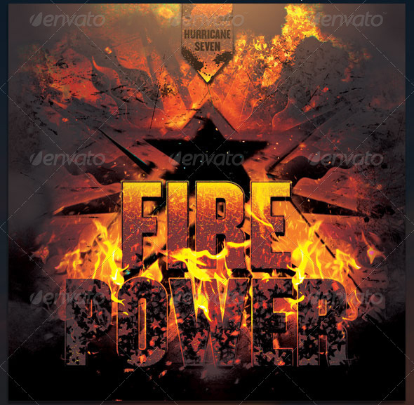 Fire Power Complete CD Cover Artwork Template