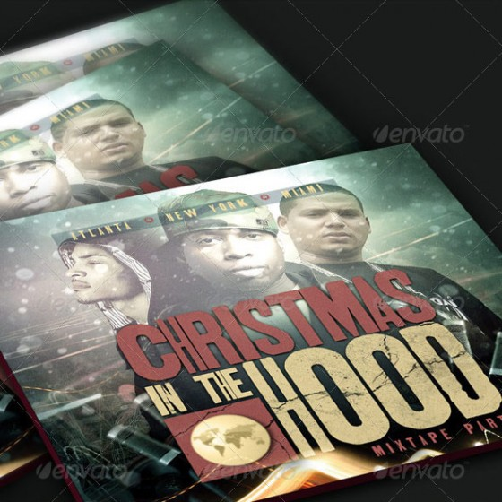 Christmas in the Hood Mixtape Template