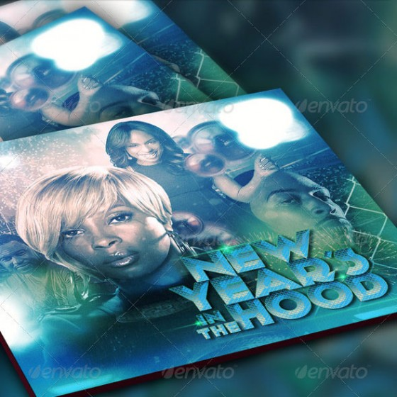 New Year in the Hood Mixtape Template