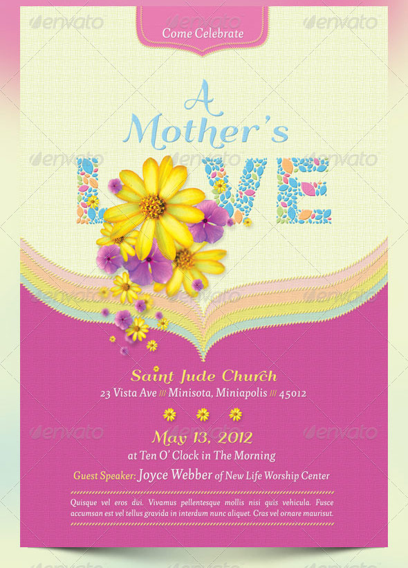 The Best And Most Beautiful Mother'S Day Templates - Seraphimchris