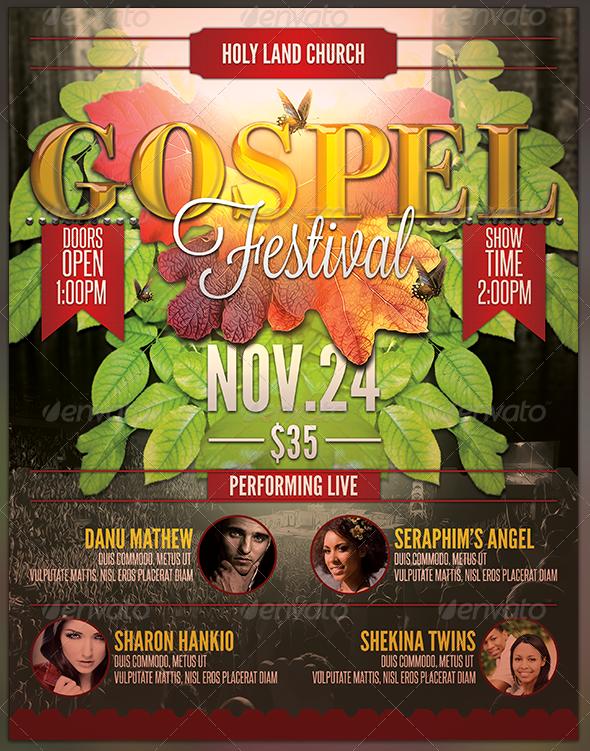 Gospel Festival: Church Flyer and CD Art Template