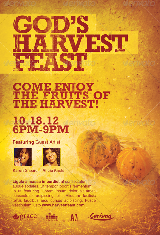 Gods Harvest Feast Church Flyer Template-Image-Preview