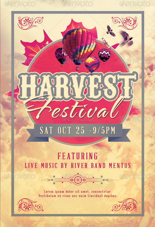 Harvest Festival Church Flyer Template-Image-Preview