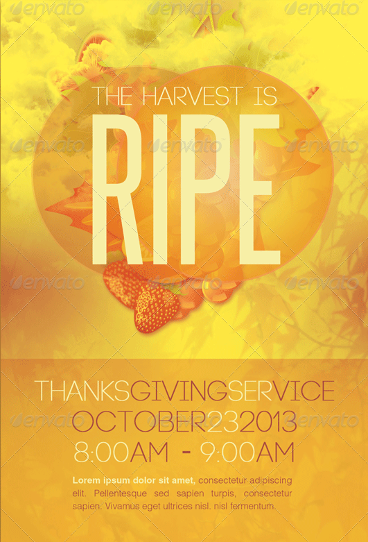 Harvest Thanksgiving Service Flyer-Template-Image-Preview
