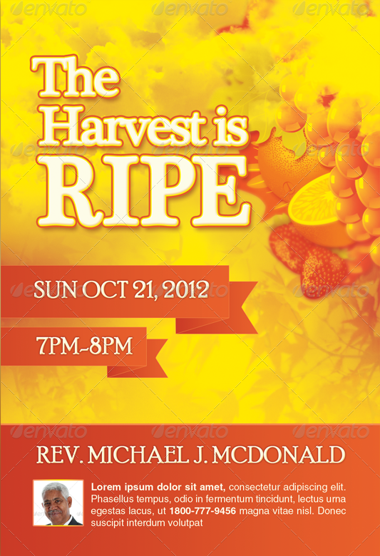 Harvest is Ripe Church Flyer Template-Image-Preview