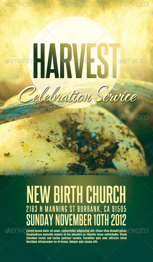 best harvest and thanksgiving flyer templates