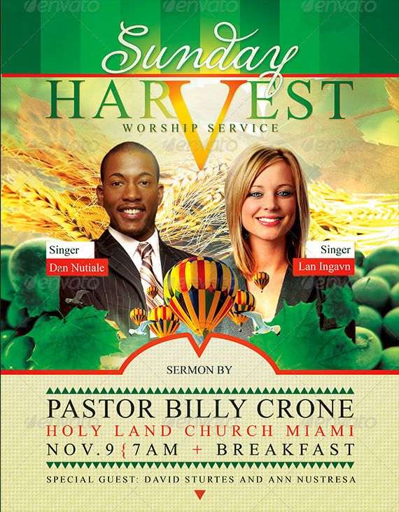 Best harvest and thanksgiving flyer templates for Free church revival flyer template