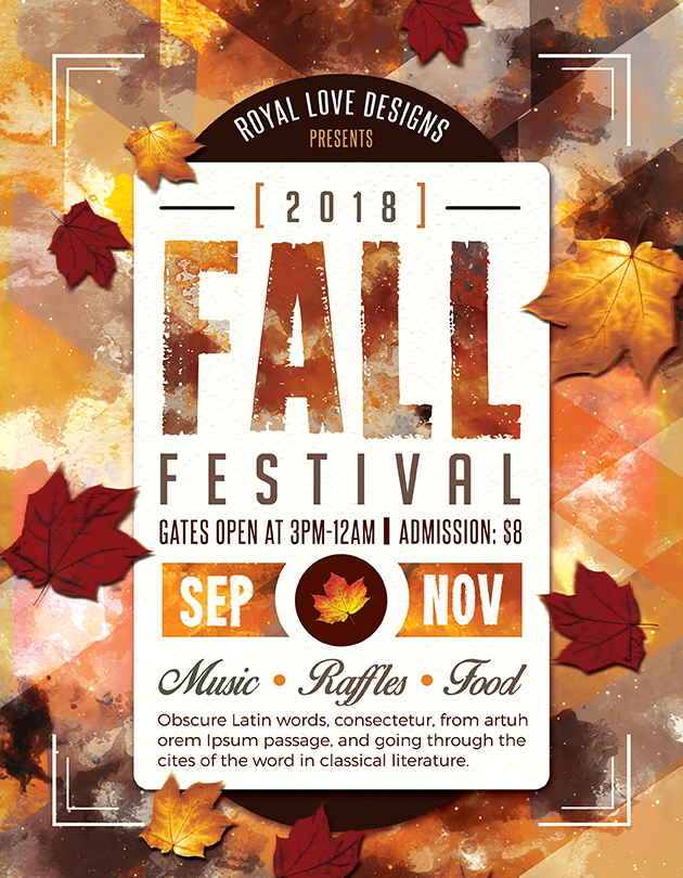 Fall Flyer. Church Harvest Festival Flyers Church Harvest Festival