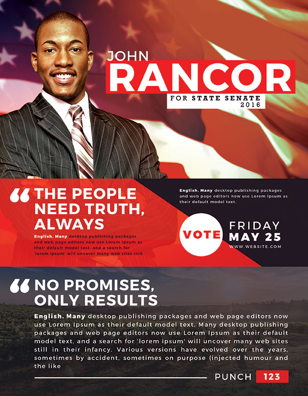Best Political Flyer Templates  Seraphimchris Graphic Design And