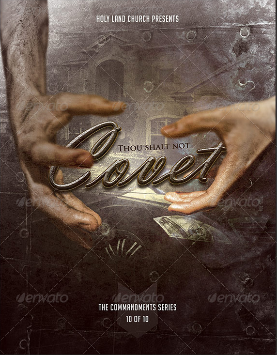 the 10 commandments series flyer templates