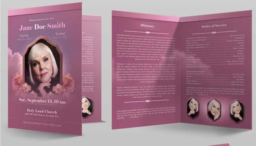 Amazing Funeral Program Booklet Templates - SeraphimChris: Graphic ...