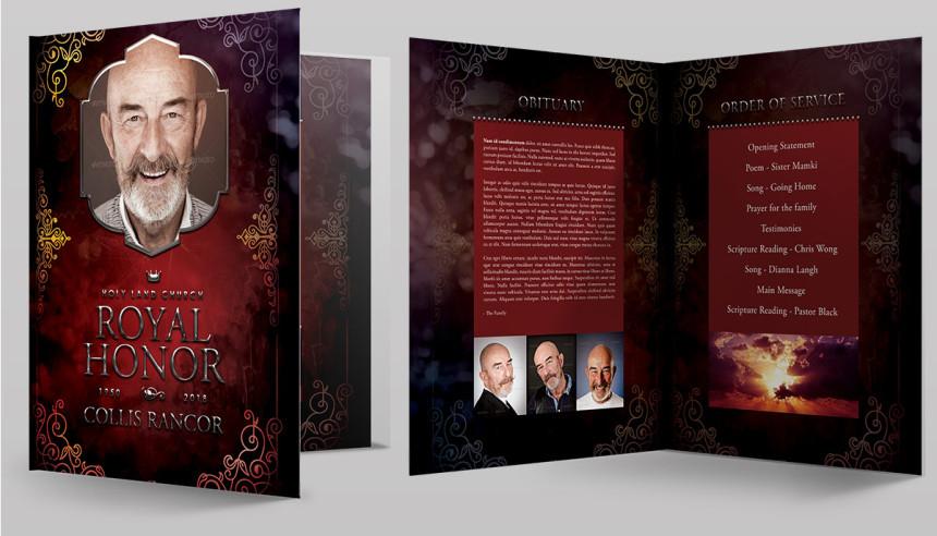 Amazing Funeral Program Booklet Templates Seraphimchris